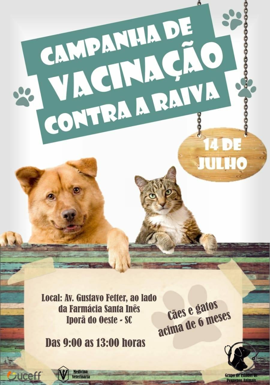 Uceff e Asanio promovem campanha de vacinação e feira de adoção de cães