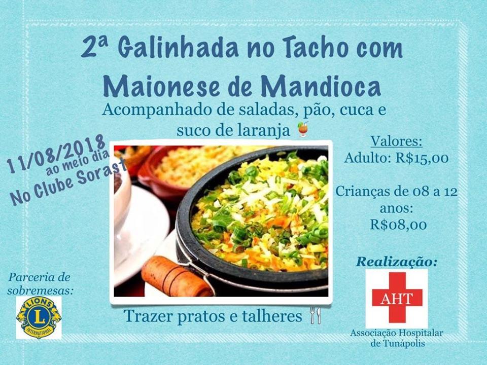 Hospital de Tunápolis promove 2ª galinhada beneficente neste sábado