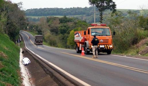 Caminhão do Extremo Oeste se envolve em acidente com morte na BR-163 no PR