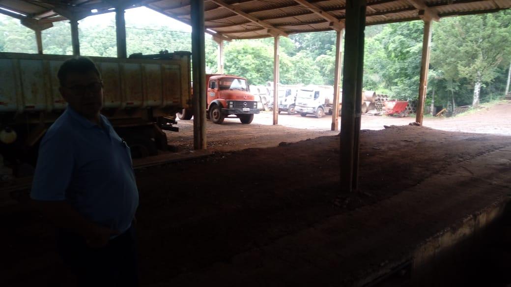 DTO de Iporã do Oeste reestrutura garagem e licita novas máquinas