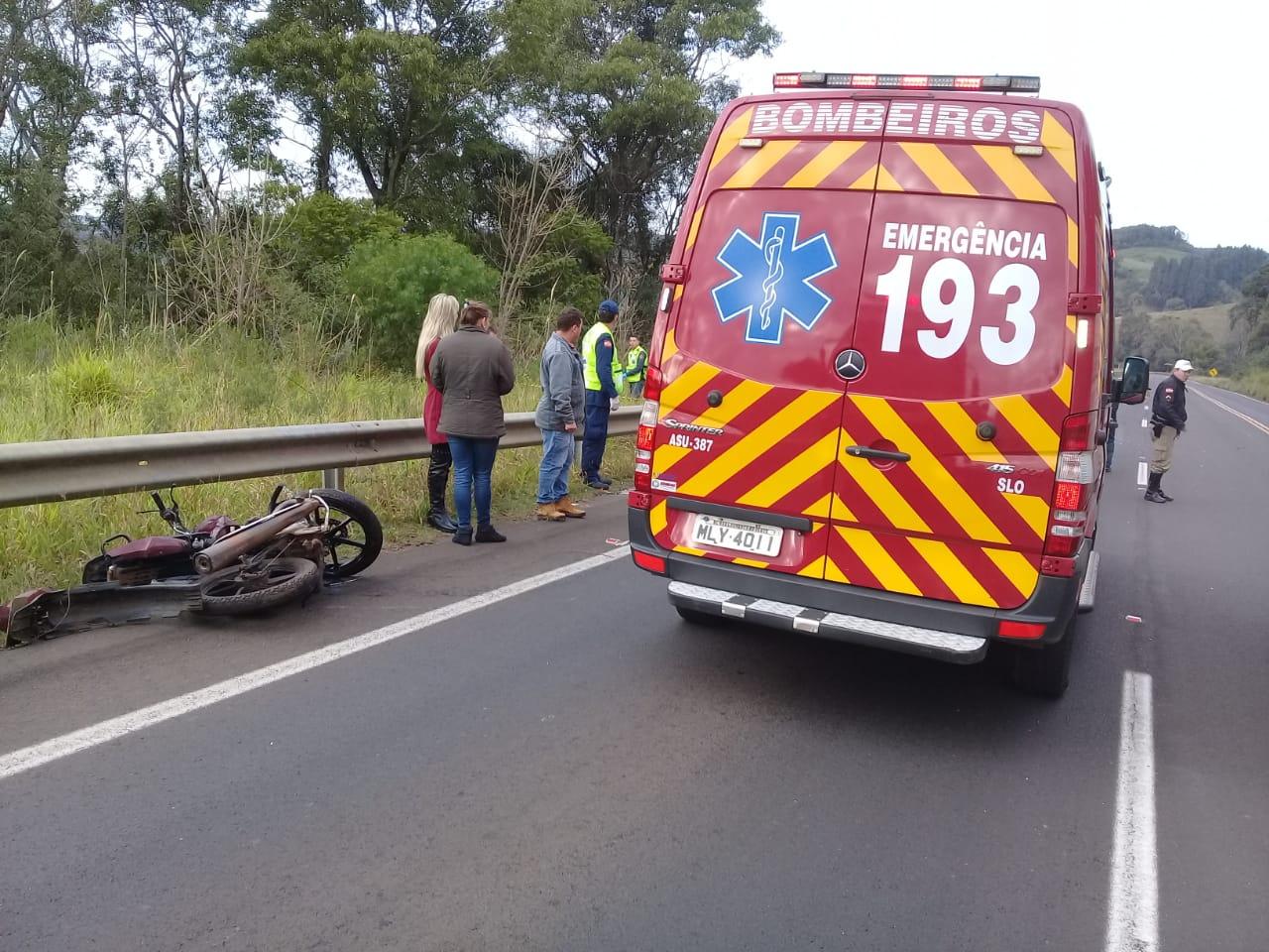 Motociclista morre em colisão na SC-157