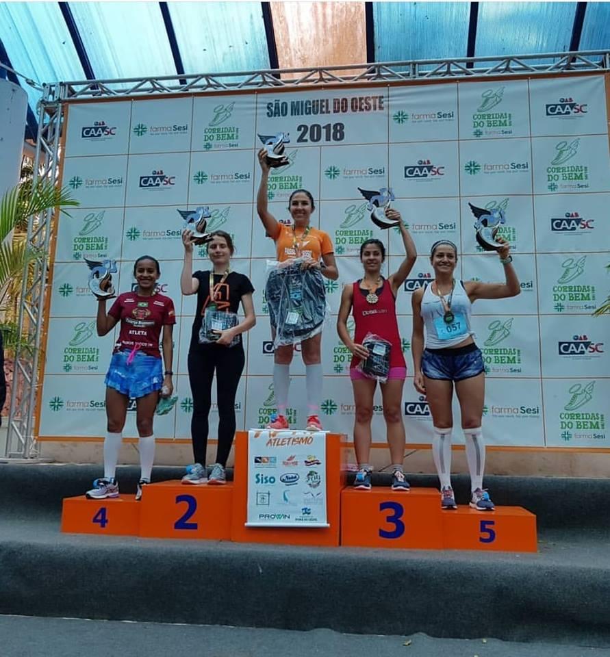 Atleta de Campo Erê leva primeiro e terceiro lugar no circuito corridas do BEM