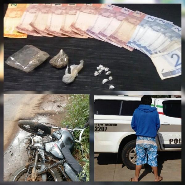 Homem é preso por tráfico de drogas