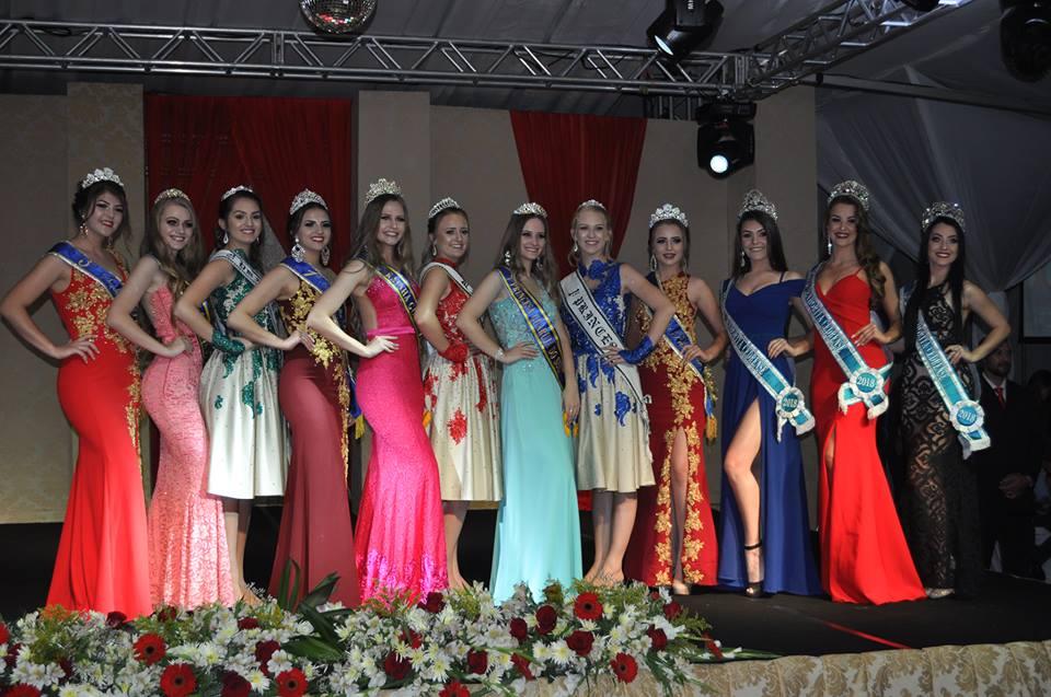 Eleitas as soberanas de Guarujá do Sul