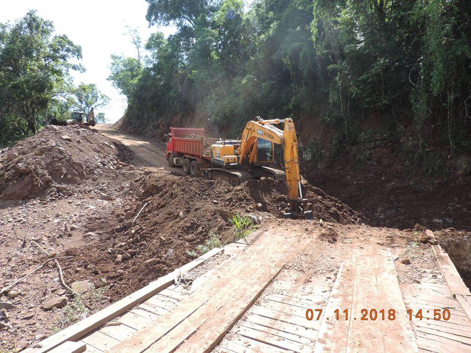 Iniciada construção de nova ponte no interior de Bandeirante