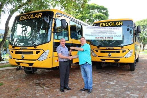 Município de Romelândia recebe dois novos ônibus escolares