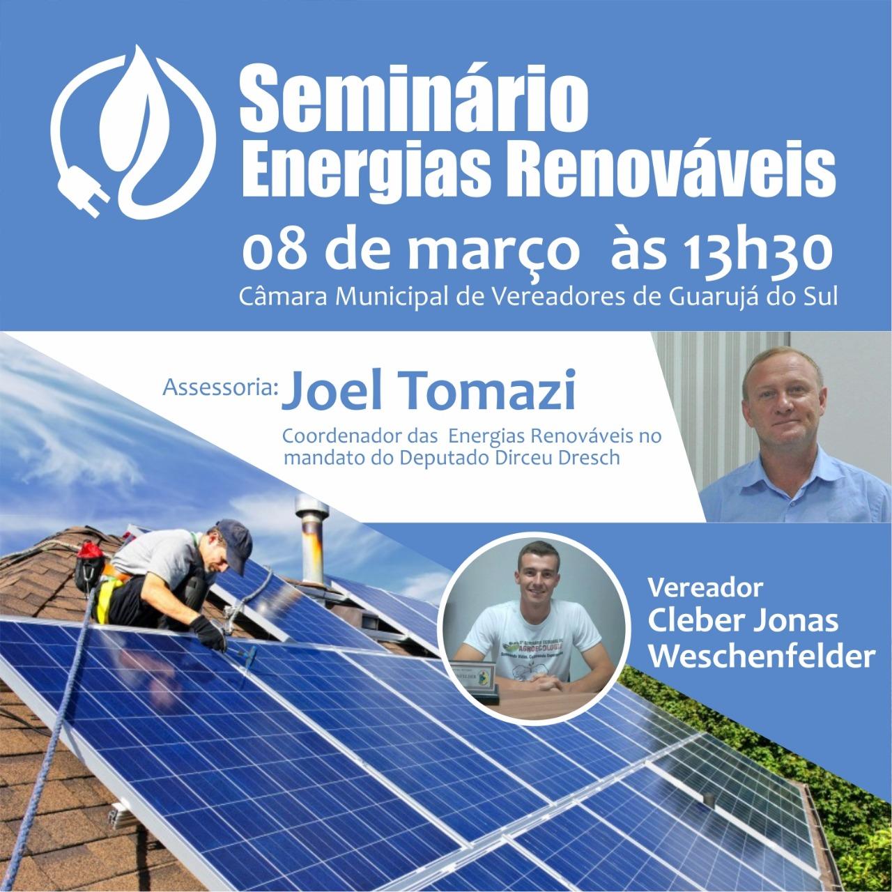Guarujá do Sul sedia seminário sobre energias renováveis e desenvolvimento sustentável