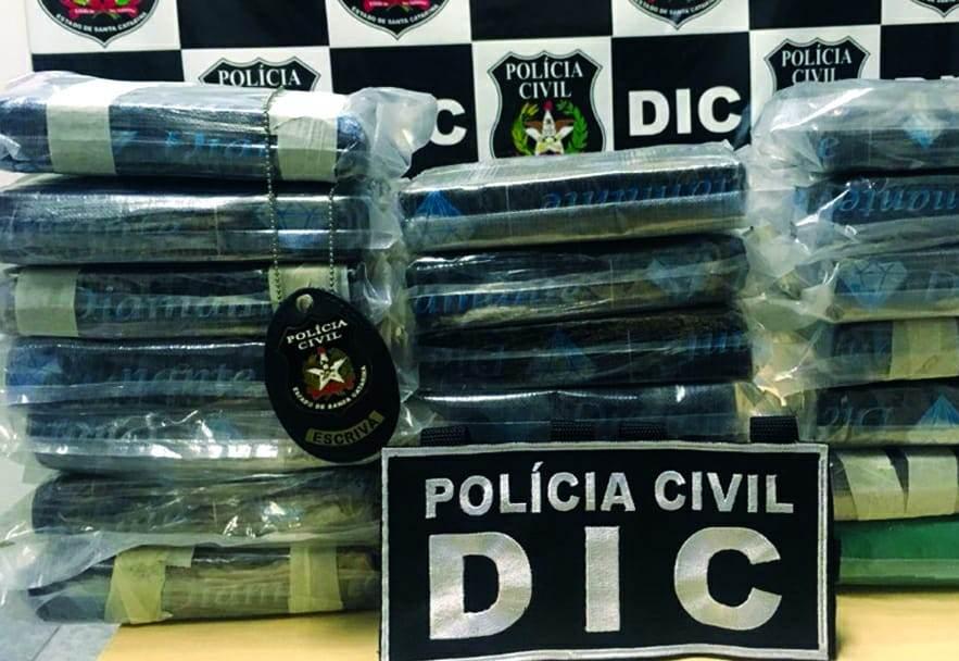 Ação policial apreende 22 quilos de cocaína avaliada em R$ 2 milhões em Chapecó