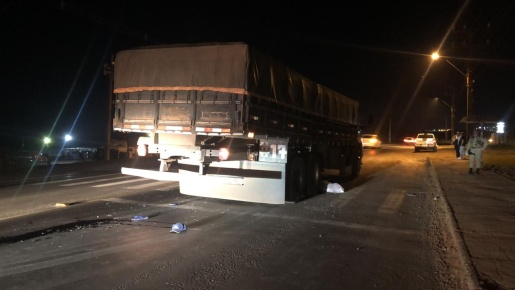 Caminhão de Guaraciaba se envolve em atropelamento com morte