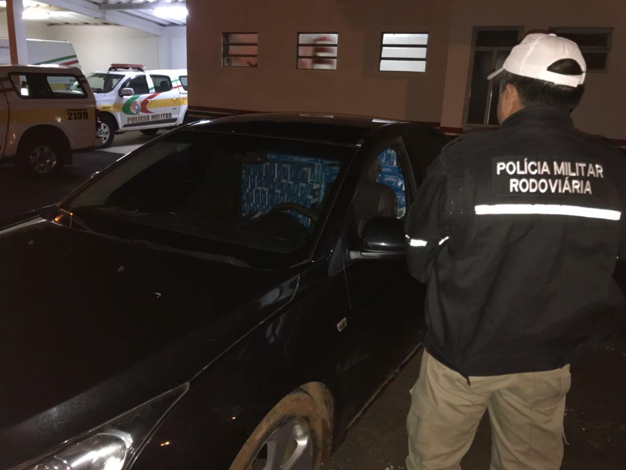 Polícia Rodoviária recupera veículo furtado carregado de cigarro