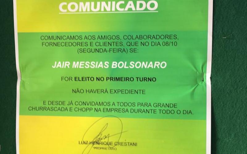 Justiça concede liminar contra empresa de Palma Sola por assédio eleitoral