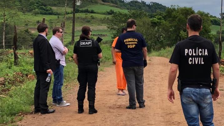 Polícia Civil e IGP realizam simulação da tentativa de homicídio no interior de Descanso