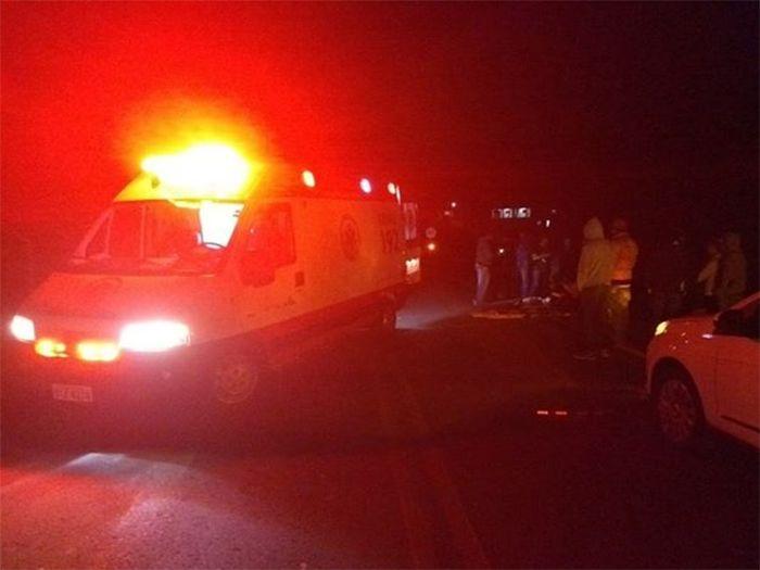 Homem morre atropelado na SC 480