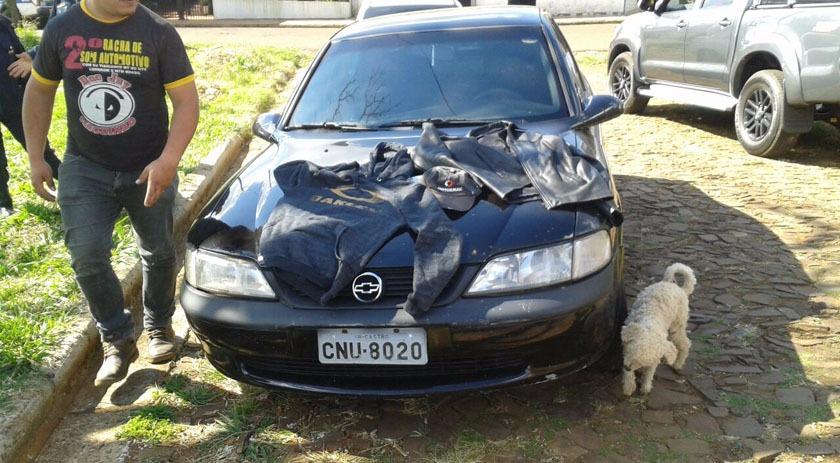 Automóvel usado em assalto à relojoaria é encontrado na Argentina