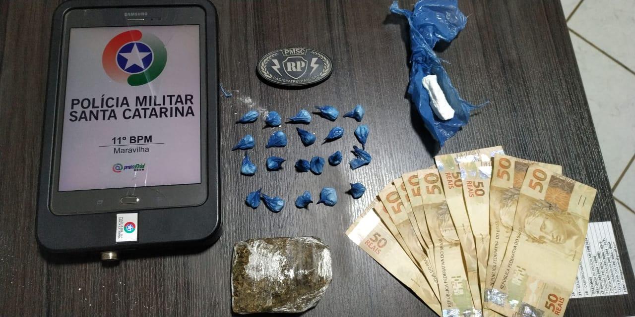 Traficante é preso pela Polícia Militar de Maravilha
