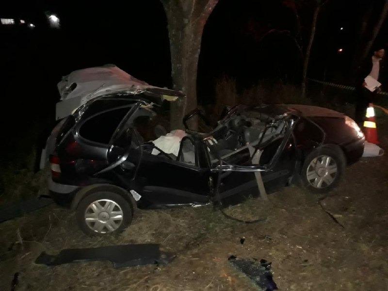 Acidente mata  três pessoas na SC-283 em Águas de Chapecó