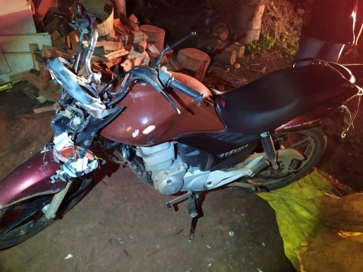 Motociclista e pedestre sofrem ferimentos graves em atropelamento na SC 386 em Mondaí
