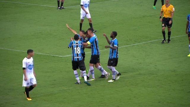 VÍDEO: Grêmio bate o Bragantino na estreia da Copa São Paulo