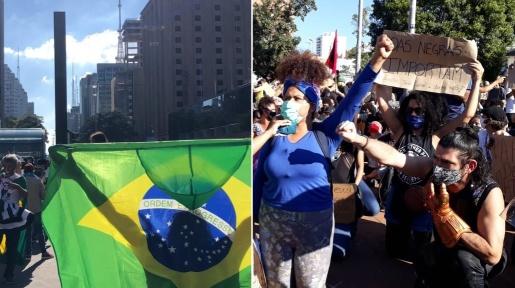 Manifestantes contra e a favor de Bolsonaro fazem atos nas maiores cidades do país