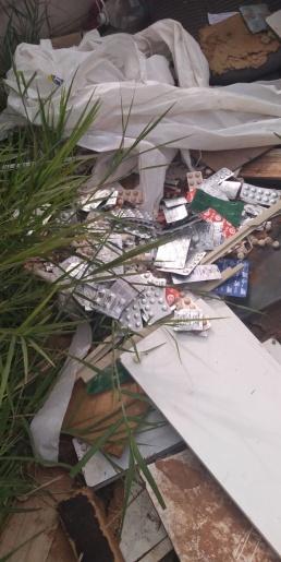 Vigilância Sanitária de Descanso constata terreno usado como depósito irregular de lixo