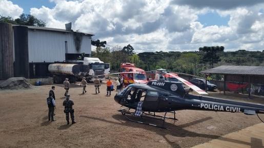 Explosão em caminhão deixa um homem morto e outro ferido em Chapecó