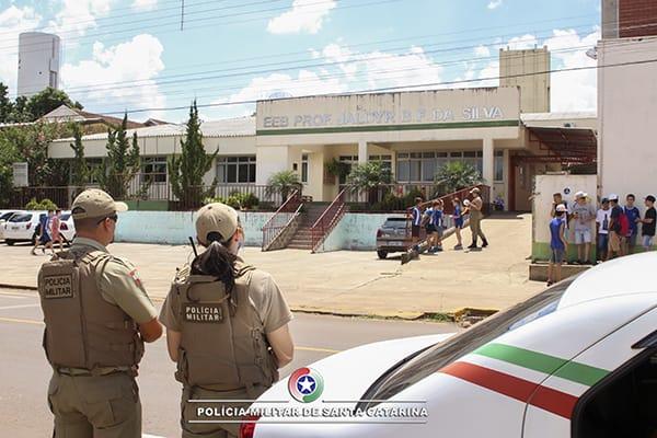 PM realiza o Programa Rede de Segurança Escolar no município