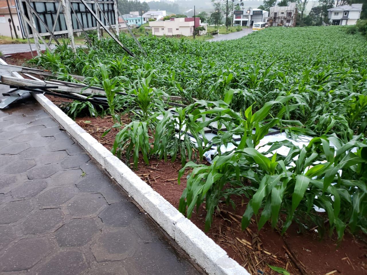 Temporal causa diversos estragos na região de Iporã do Oeste e Tunápolis