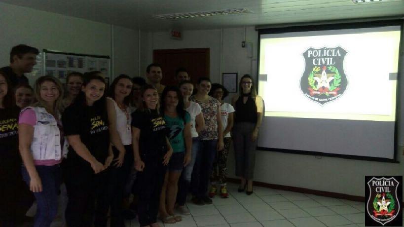 Polícia Civil promove palestra sobre violência doméstica contra a mulher