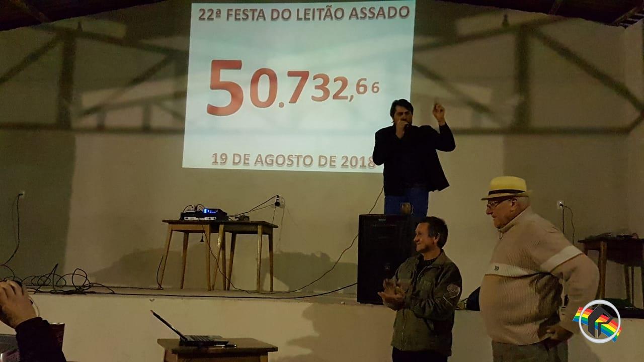 22ª festa do Leitão tem mais de R$ 50 mil de lucro