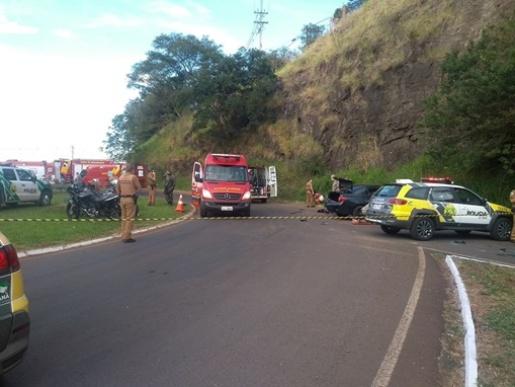 Fuga de abordagem policial termina em grave acidente