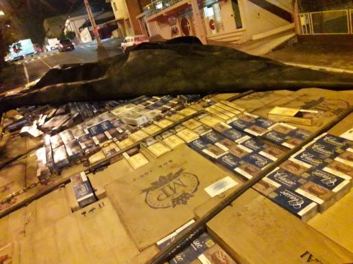 Operação conjunta de Polícias apreende 320 mil carteiras de cigarro