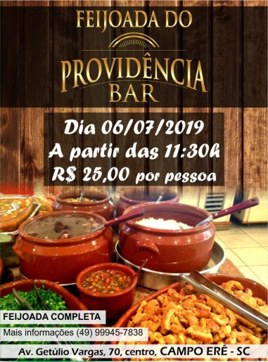 Promoção especial no Providência Bar e Restaurante neste sábado
