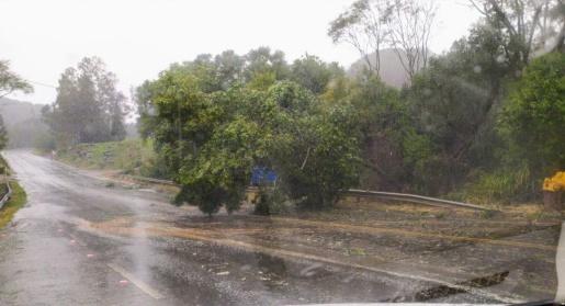 Vento e chuva  forte deixa prejuízos em Campo Erê e região