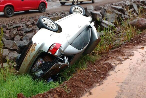Idoso morre em capotamento na BR-163 em São José do Cedro