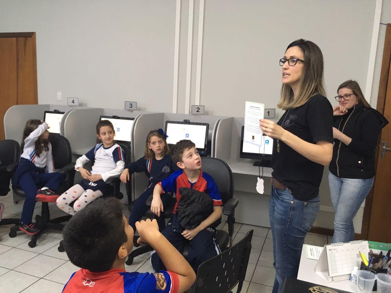 DPCAMI realiza o programa Delegado Mirim em São Miguel do Oeste
