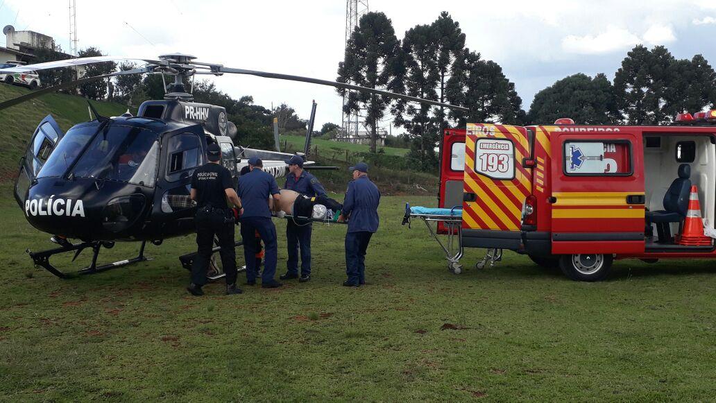 VÍDEO- Saer/Fron faz transporte de paciente para Xanxerê