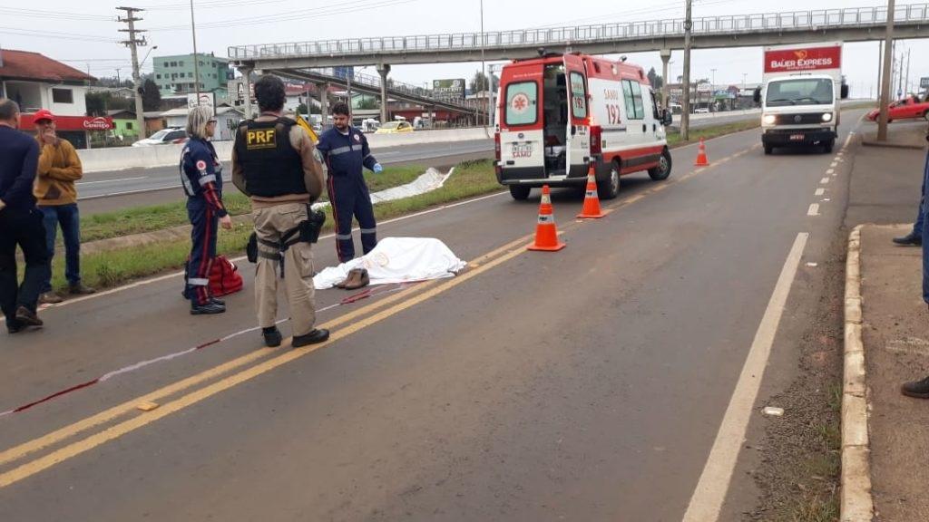 Pedestre morre atropelado na BR 480