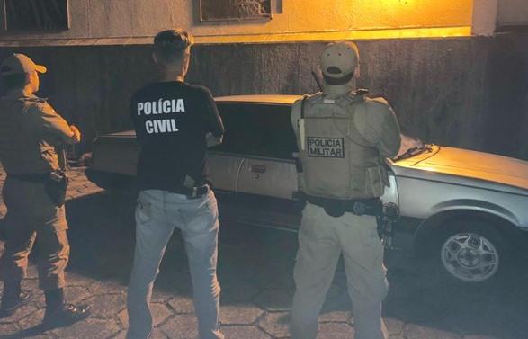 Polícia Civil e Militar de Maravilha recuperam veículo com registro de furto