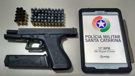 Homem é preso após efetuar disparos de arma de fogo em São Miguel do Oeste