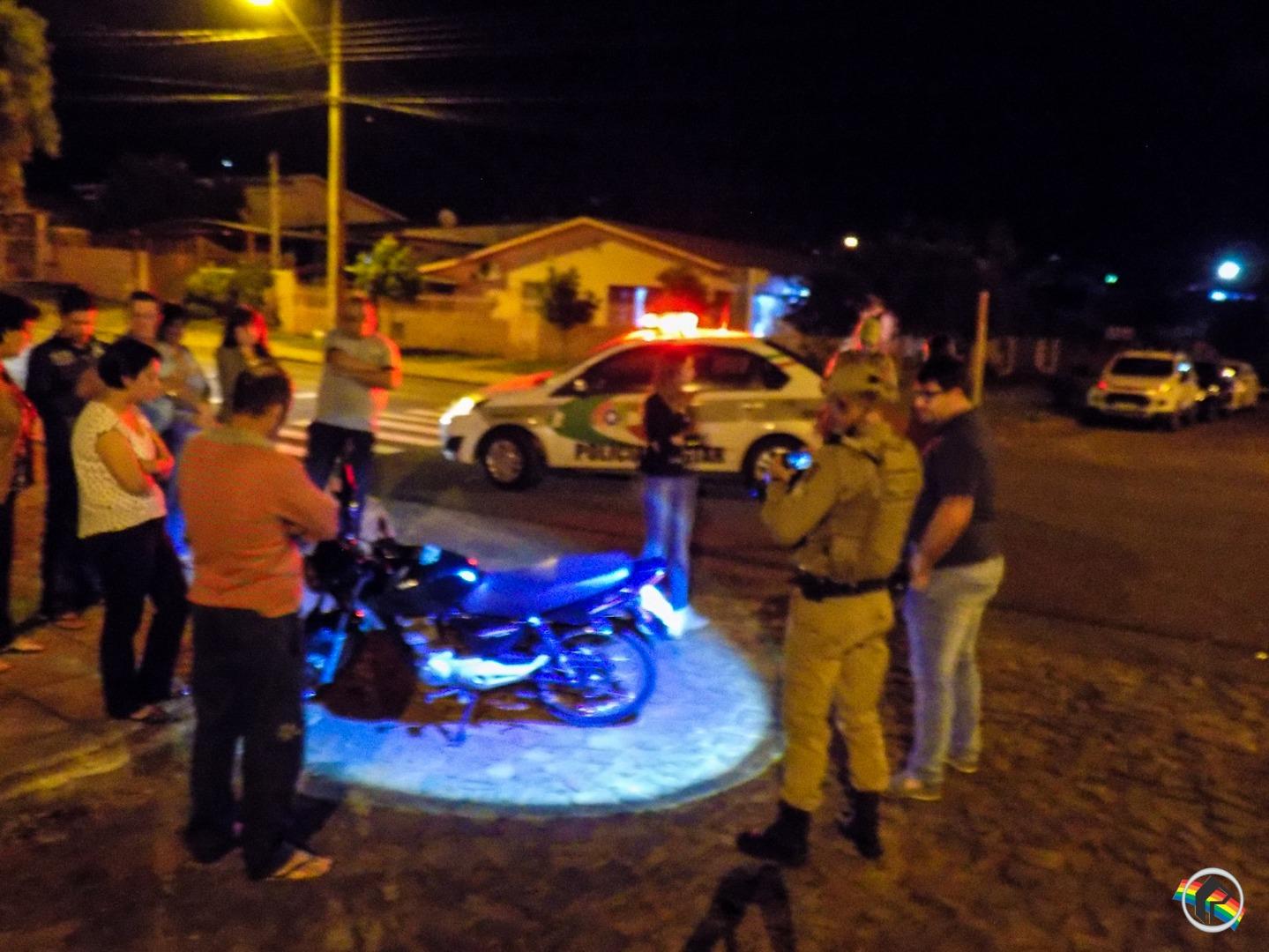 Acidente deixa motociclista ferido em São Miguel do Oeste