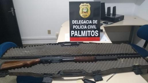 Polícia Civil de Palmitos apreende arma com registro vencido após idoso ser ameaçado