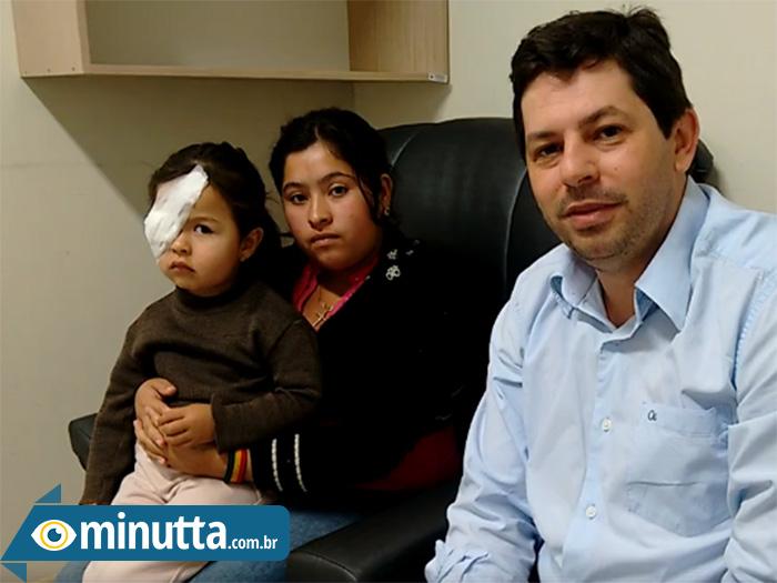 Criança volta a enxergar após mutirão de cirurgias