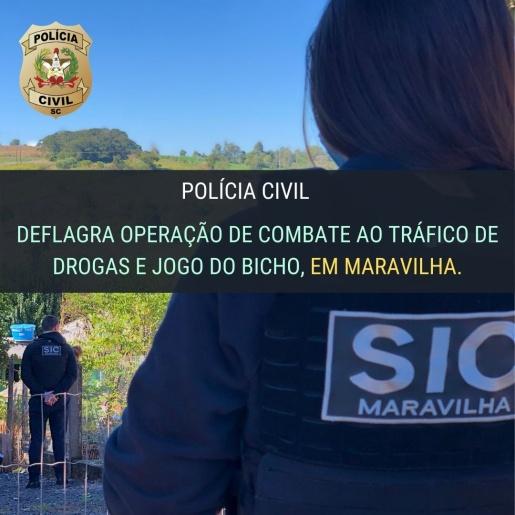 Polícia Civil deflagra operação de combate ao tráfico de drogas e jogo do bicho