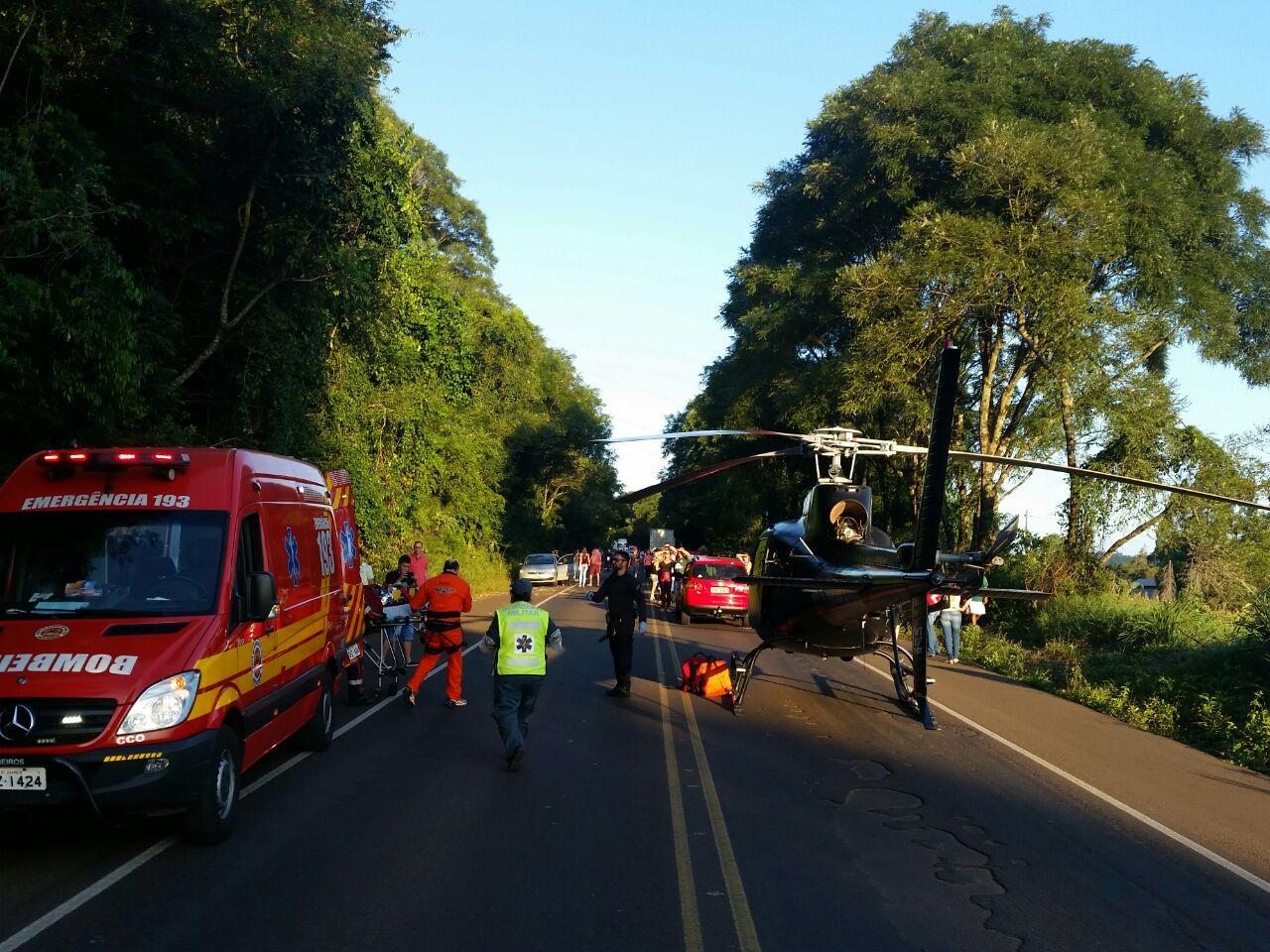 Motorista embriagado provoca grave acidente com três feridos em Chapecó