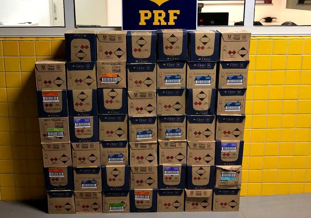 PRF apreende mais de 500 produtos estrangeiros na BR-163