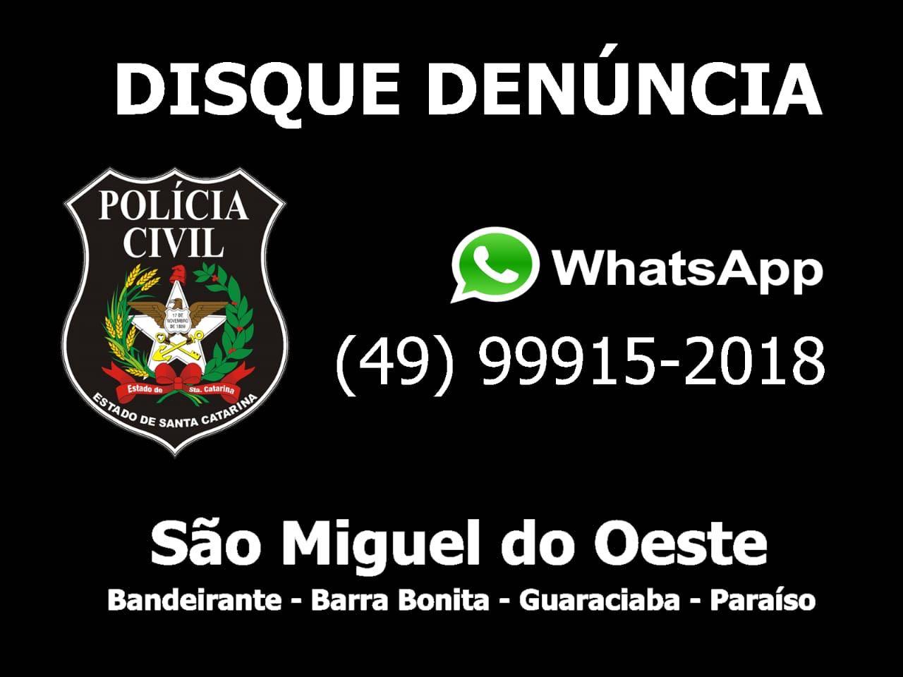 Polícia Civil de São Miguel do Oeste lança novo sistema de denúncias