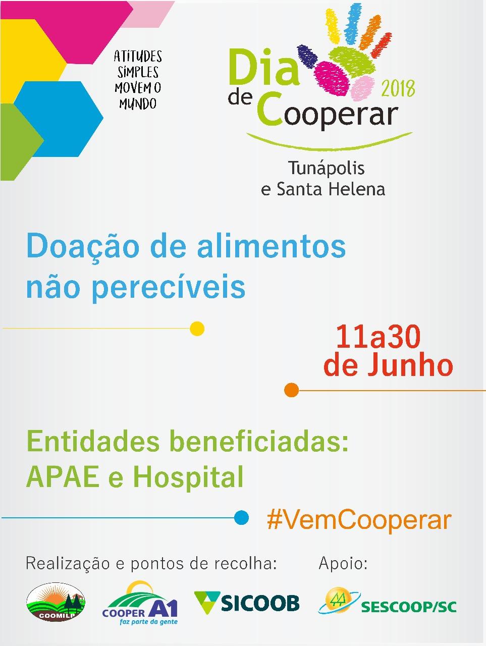 Cooperativas promovem ações alusivas ao Dia C neste sábado