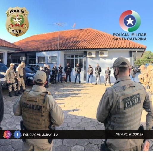 Polícia Civil e Militar desencadeiam 'Operação Disparo', em Maravilha