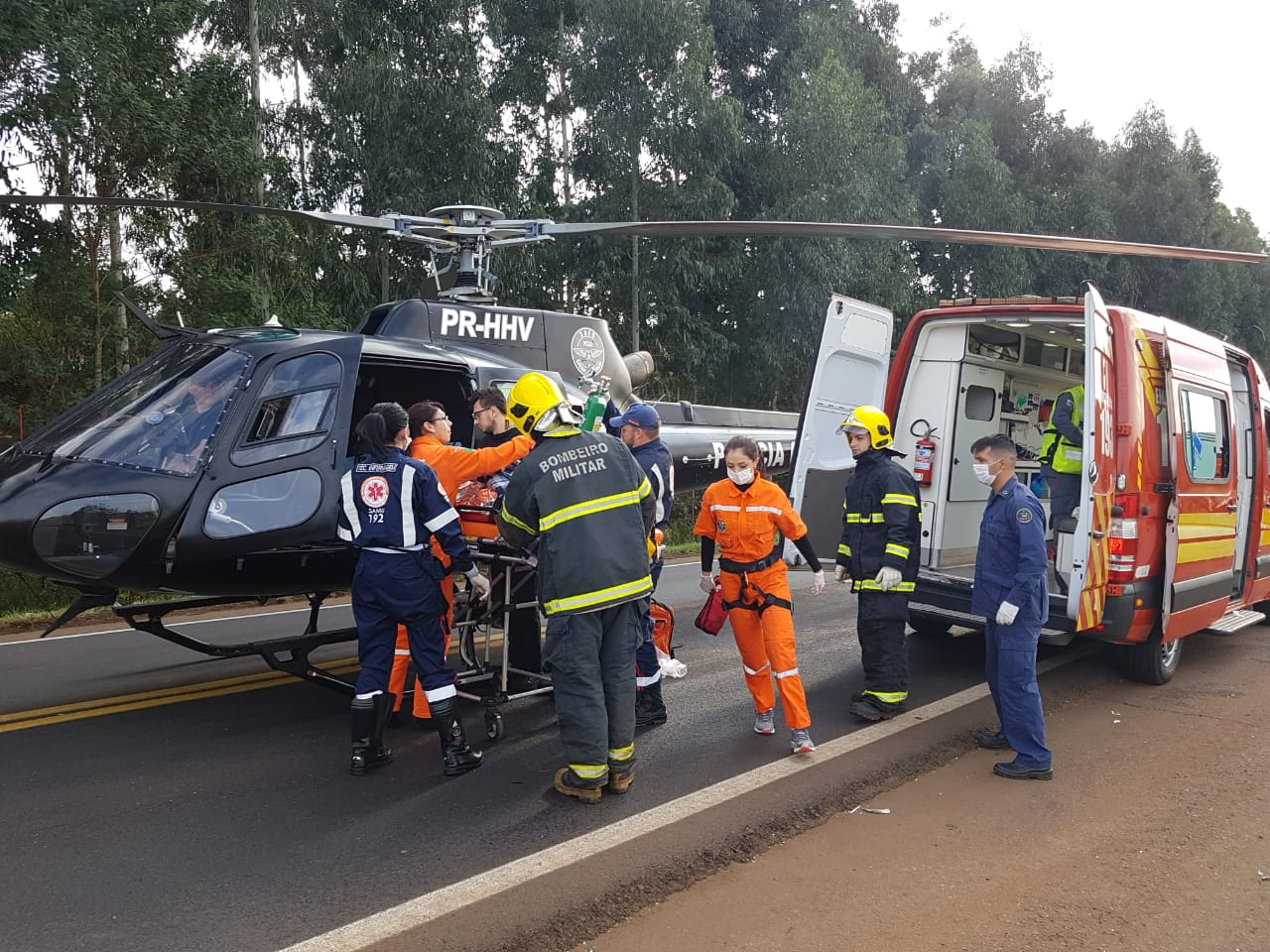 Colisão deixa três mortos e uma vítima grave entre Abelardo Luz e Palmas