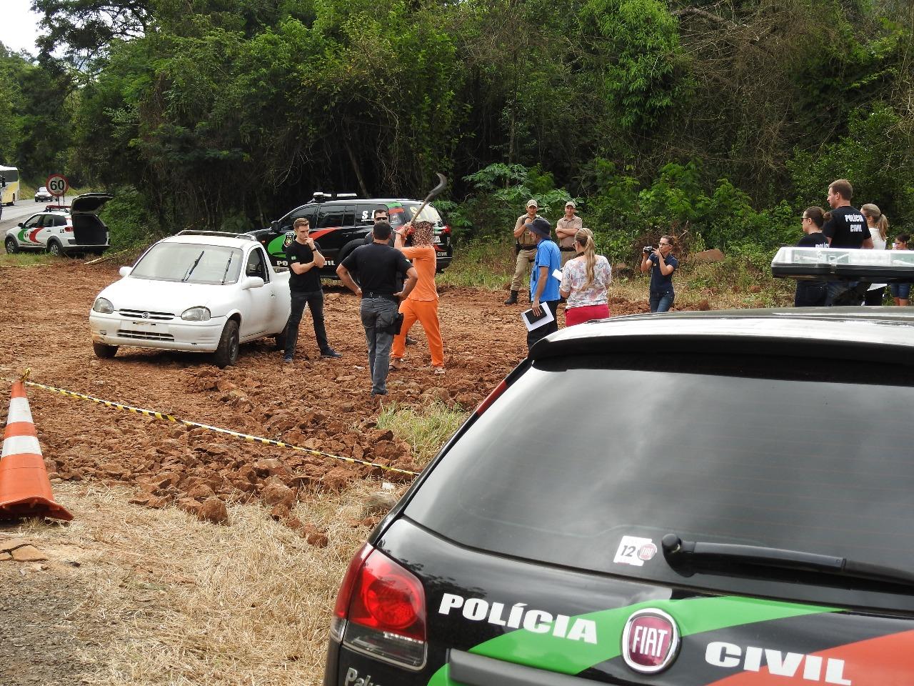Polícia Civil e IGP realizam reprodução simulada de homicídio em Iraceminha